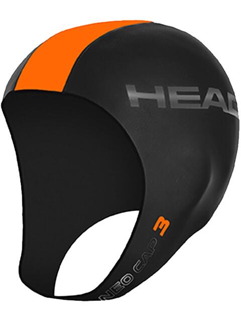 Head 3mm Swimcap Black/Orange